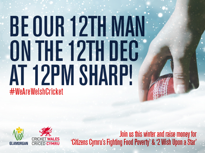 Be our 12th Man on 12th December to raise money for charities this winter