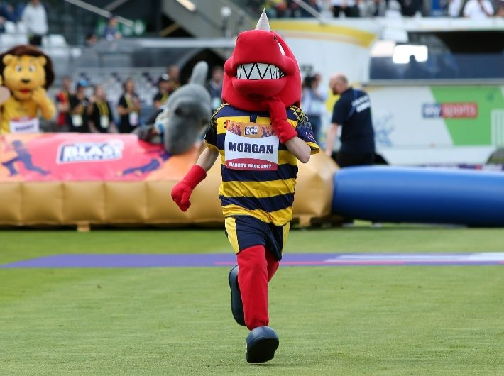 Support Morgan the Dragon in charity mascot race