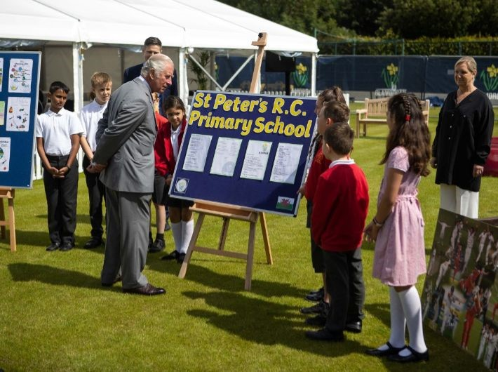 Winners of anniversary competition showcase their work to HRH Prince Charles